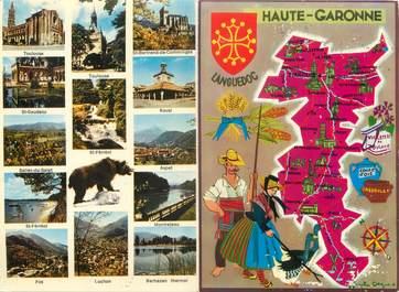 """CPSM LIVRET FRANCE 33 """"Haute Garonne"""" / CARTE GEOGRAPHIQUE"""
