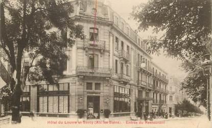 """CPA FRANCE 73 """"Aix les Bains, Hotel du Louvre et Savoy"""""""