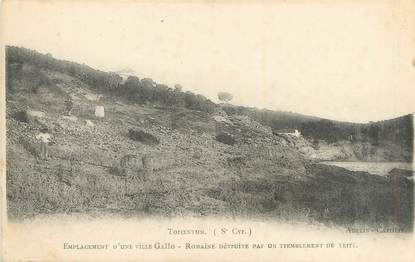 """CPA FRANCE 83 """"Saint Cyr, emplacement d'une ville Gallo Romaine"""""""
