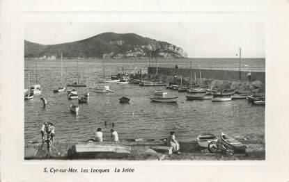 """CPSM FRANCE 83 """"Saint Cyr sur Mer, les Lecques, la jetée"""""""