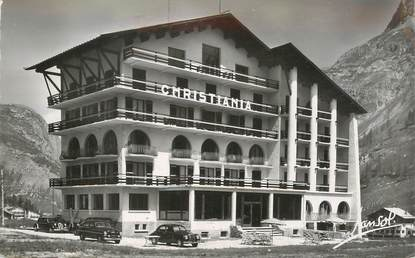 """CPSM FRANCE 73 """"Val d'Isère, Hotel Christiania"""""""