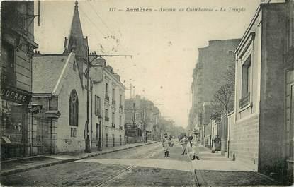 """CPA FRANCE 92 """"Asnières, avenue de Courbevoie, le Temple protestant"""""""
