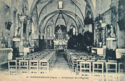 """CPA FRANCE 83 """"Ginasservis, intérieur de l'église"""""""