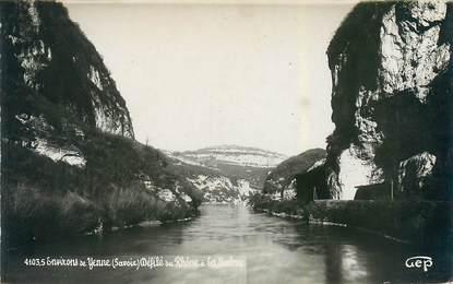 "CPSM FRANCE 73 ""Yenne, du Rhône à la Balme"""