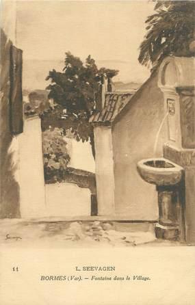 """CPA FRANCE 83 """"Bormes, fontaine dans le village"""""""