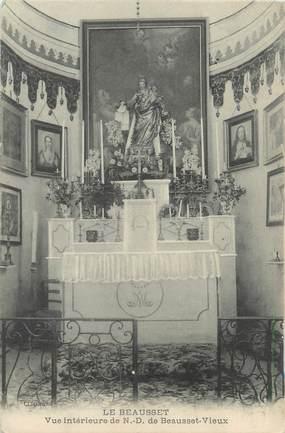 """CPA FRANCE 83 """"Le Beausset, vue intérieure de Notre Dame de Beausset le Vieux"""""""
