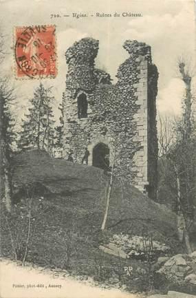 "CPA FRANCE 73 ""Ugine, ruines du chateau"""