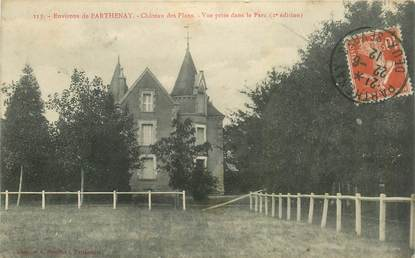 "CPA FRANCE 79 ""Env. de Parthenay, Chateau des Plans"""