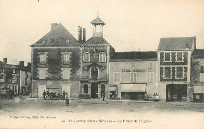 "CPA FRANCE 79 ""Thénezay, la place de l'Eglise"""