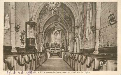 """CPA FRANCE 79 """"Villeneuve la Comtesse, intérieur de l'église"""""""