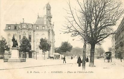 """CPA FRANCE 92 """"Asnières, la Place de l'Hôtel de Ville"""""""
