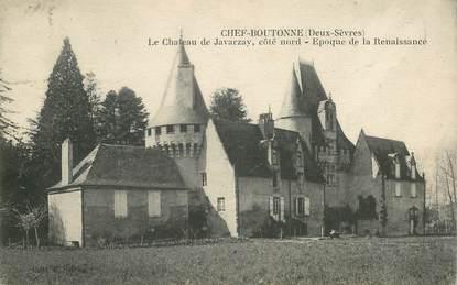 """CPA FRANCE 79 """"Chef Boutonne, le chateau de Javarzay"""""""