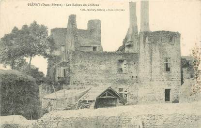 "CPA FRANCE 79 ""Glénay, les ruines du Chateau"""