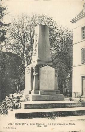 """CPA FRANCE 79 """"Chef Boutonne, le monument aux morts"""""""