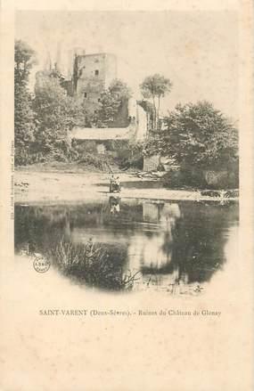 """CPA FRANCE 79 """"Saint Varent, ruines du chateau de Glenay"""""""