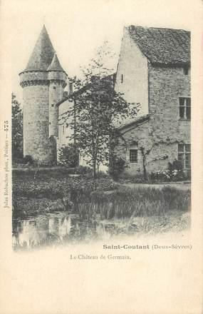 """CPA FRANCE 79 """"Saint Coutant, le chateau de Germain"""""""