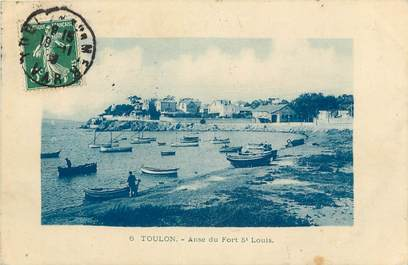 "CPA FRANCE 83 ""Toulon, Anse du Fort Saint Louis"""
