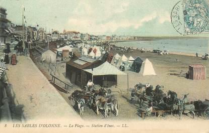 """CPA FRANCE 85 """"Sables d'Olonne, la plage"""" / ANE"""