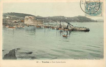 "CPA FRANCE 83 ""Toulon, le Fort Saint Louis"""