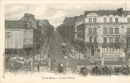 """CPA FRANCE 72 """"Le Mans, avenue Thiers"""" / PHOTOTYPIE J. BOUVERET"""