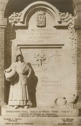 """CPA FRANCE 61 """"Vimoutiers, Statue de Marie Harel"""""""