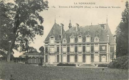 """CPA FRANCE 61 """"Env. d'Alençon, le Château de Verveine"""""""