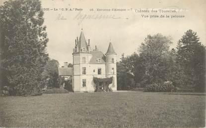 """CPA FRANCE 61 """"Env. d'Alençon, Chateau des Tourelles"""""""