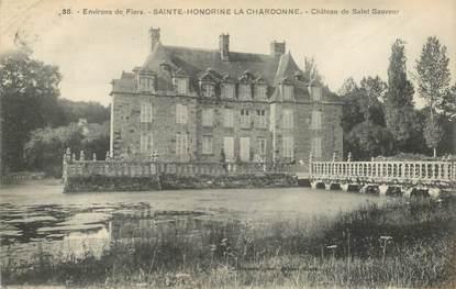"""CPA FRANCE 61 """"Sainte Honorine la Chardonne, chateau de Saint Sauveur"""""""