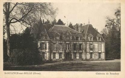 """CPA FRANCE 61 """"Saint Sulpice sur Rille; Chateau de Souchey"""""""