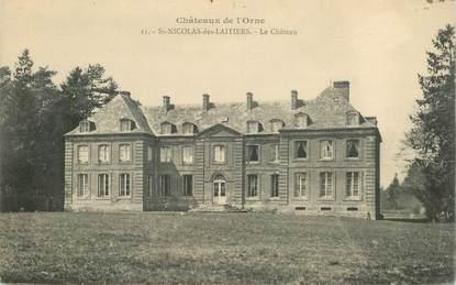"""CPA FRANCE 61 """"Saint Nicolas des Laitiers, le chateau"""""""
