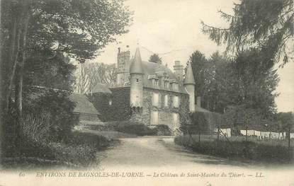 """CPA FRANCE 61 """"Env. de Bagnoles, le CHateau de Saint Maurice du Désert"""""""
