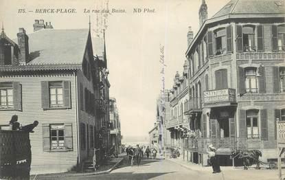 Cpa france 62 berck la rue des bains 62 pas de calais for Rue des bains