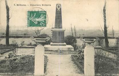 """CPA FRANCE 62 """"Bethune, le cimetière militaire"""""""