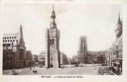 """CPA FRANCE 62 """"Bethune, la Place du Maréchal Pétain"""""""