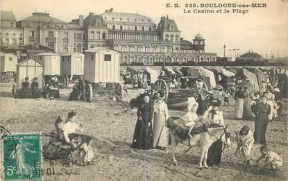 """CPA FRANCE 62 """"Boulogne sur Mer, le casino et la plage"""""""