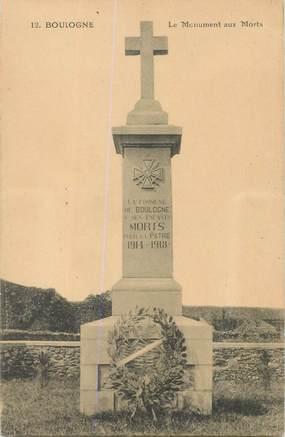 """CPA FRANCE 62 """"Boulogne sur Mer, monument aux morts"""""""