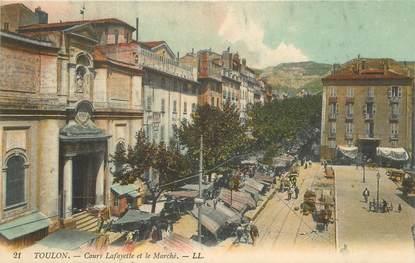 """CPA FRANCE 83 """"Toulon, Cours Lafayette et le Marché"""""""