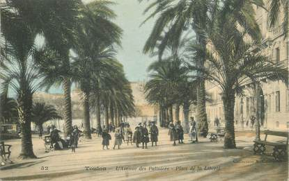 "CPA FRANCE 83 ""Toulon, Avenue des Palmiers"""