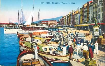 """CPA FRANCE 83 """"Toulon, vue sur le quai"""""""