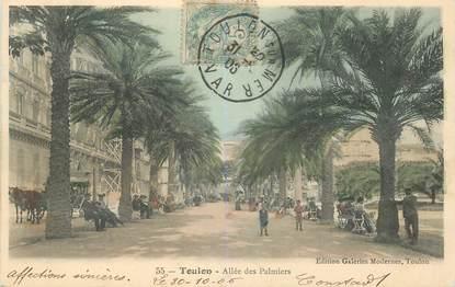 """CPA FRANCE 83 """"Toulon, Allée des Palmiers"""""""