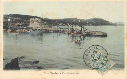 """CPA FRANCE 83 """"Toulon, le Fort Saint Louis"""""""