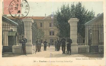 """CPA FRANCE 83 """"Toulon, la Caserne Gouvion Saint Cyr"""""""