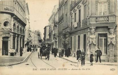 """CPA FRANCE 83 """"Hyères, avenue des Iles d'Or"""""""