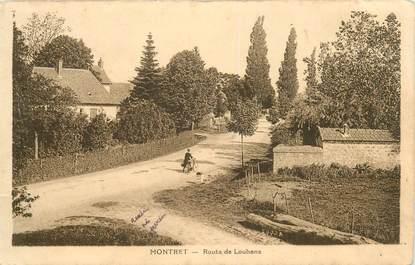 """CPA FRANCE 71 """"Montret, route de Louhans"""""""