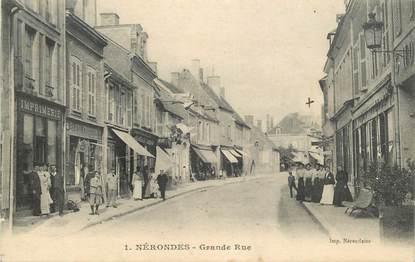 "CPA FRANCE 18 ""Nérondes, Grande rue, Imprimerie"""