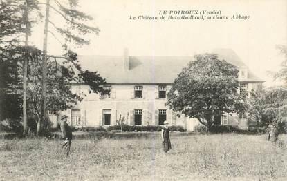 """CPSM FRANCE 85 """"Le Poiroux, le chateau de Bois Grollaud"""""""