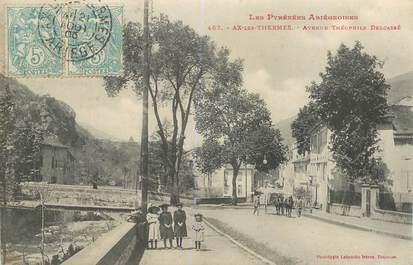 """CPA FRANCE 09 """"Ax les Thermes, avenue Théophile Delcassé"""""""