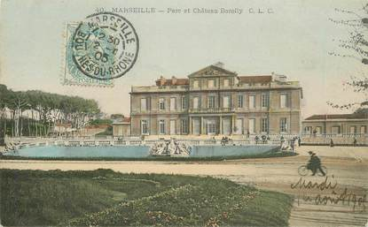 """CPA FRANCE 13 """"Marseille, parc et chateau Borelly"""""""