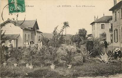 "CPA FRANCE 83 ""Hyères, Ecole d'Horticulture"""