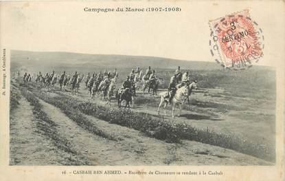 "CPA MAROC ""Casbah Ben Ahmed, Escadron de chasseurs"""
